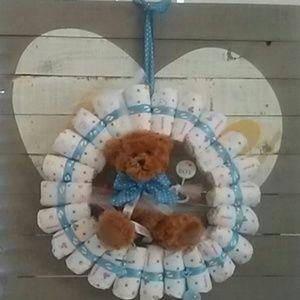 It's a boy!!! Teddy bear Wreath 14' inch